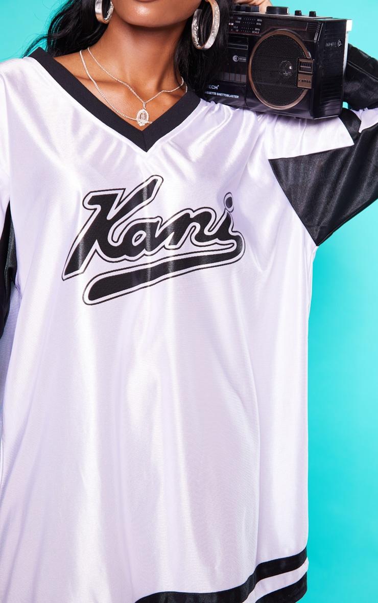 KARL KANI White Baseball Dress 6