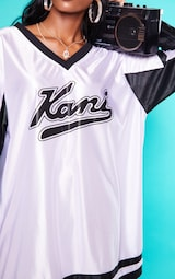 ecd51e832a KARL KANI White Baseball Dress image 6