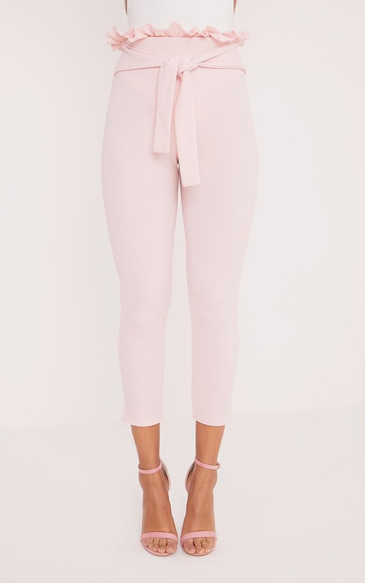 Perlita Pink Paperbag Skinny Trousers 2