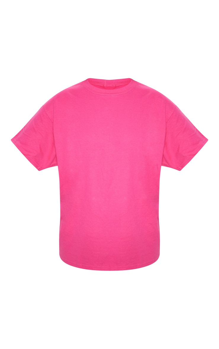 Hot Pink Oversized Boyfriend T Shirt 3