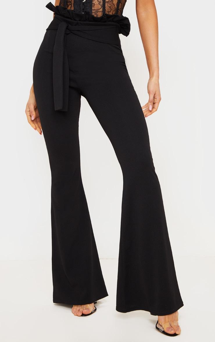 Black Paperbag Waist Flared Trouser 2