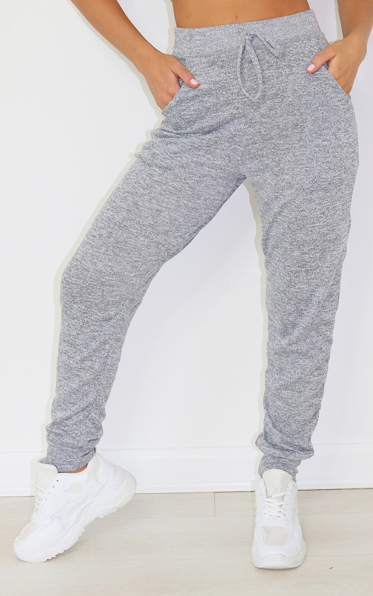 Grey Brushed Jersey Joggers 2
