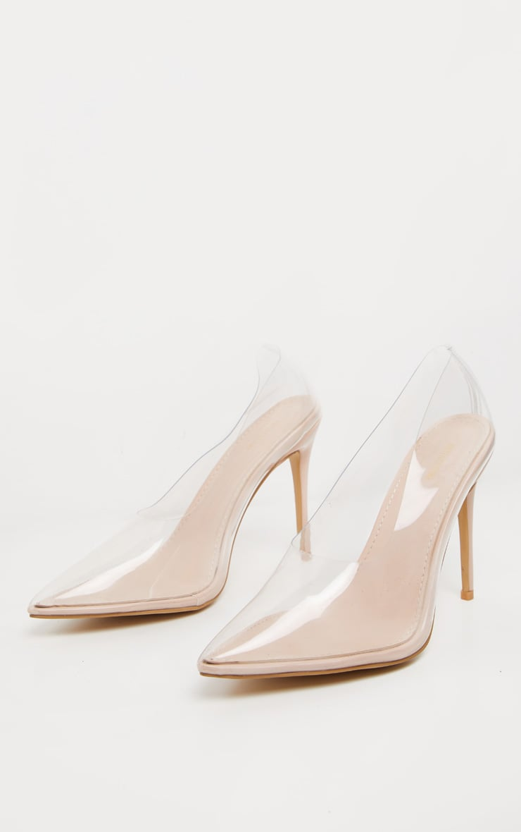 Clear High Vamp Court Shoe 4