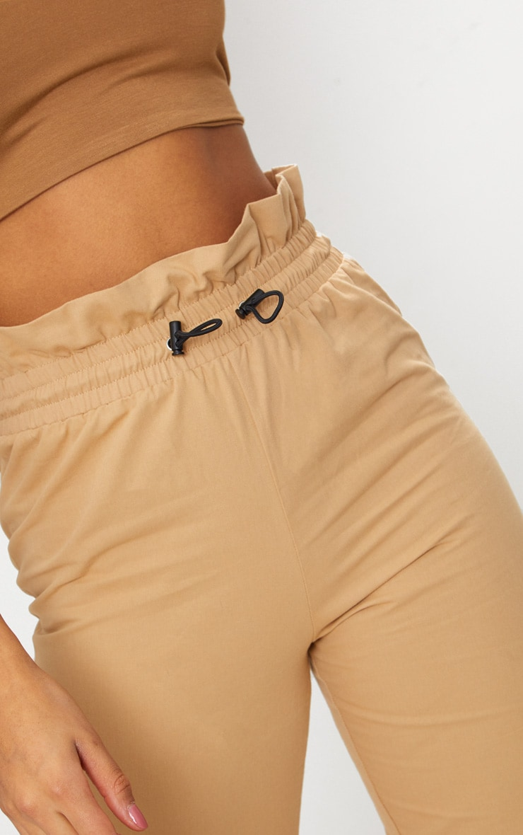 Stone Toggle Paperbag Waist Cargo Trousers 5