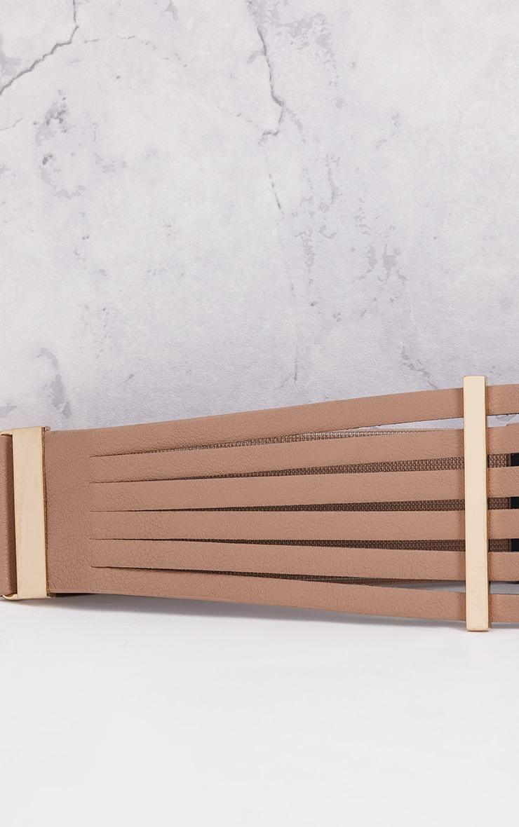 Ilena Nude Multi Strap Detail Belt 5