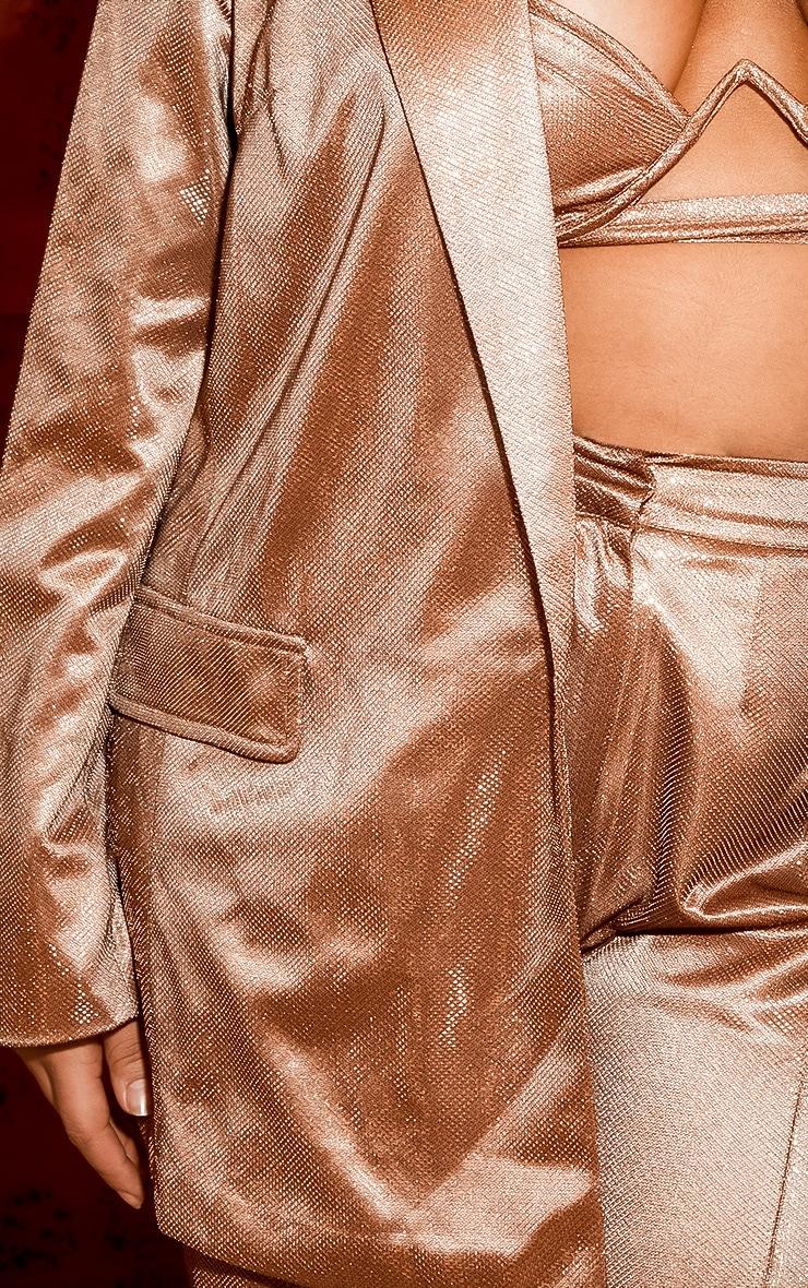 Plus Copper Metallic Oversized Blazer 6