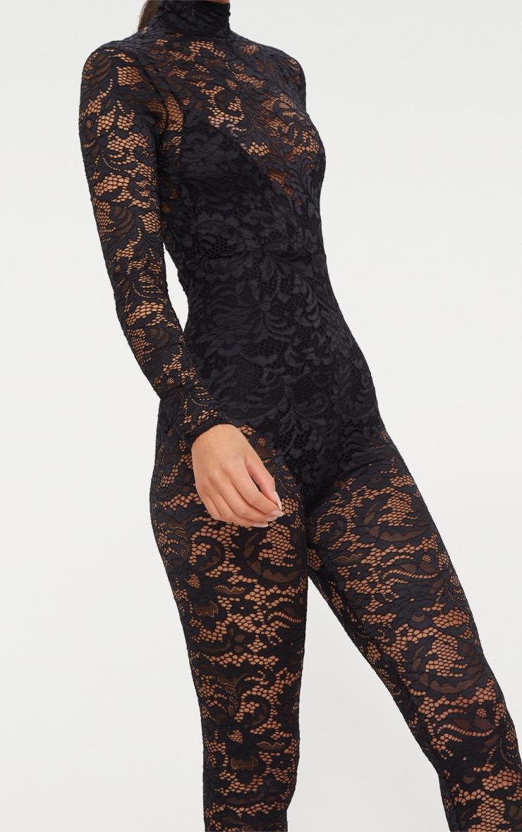 Black Lace High Neck Jumpsuit 5