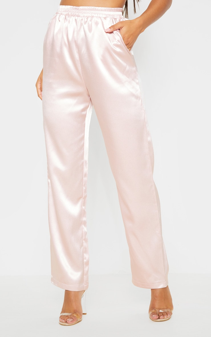Rose Satin Trouser 2