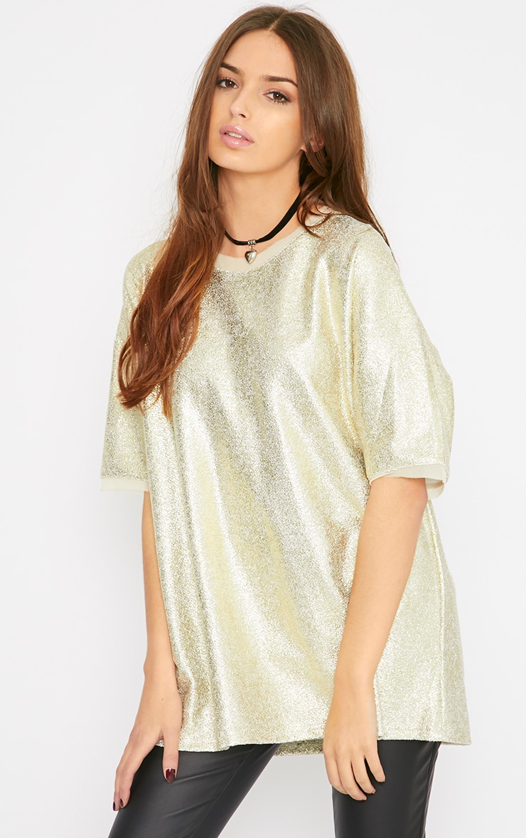 Riya Gold Oversized Jumper 1
