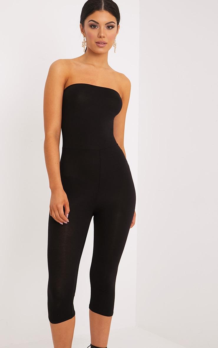 Kelli Black Bandeau Cropped Jumpsuit 4