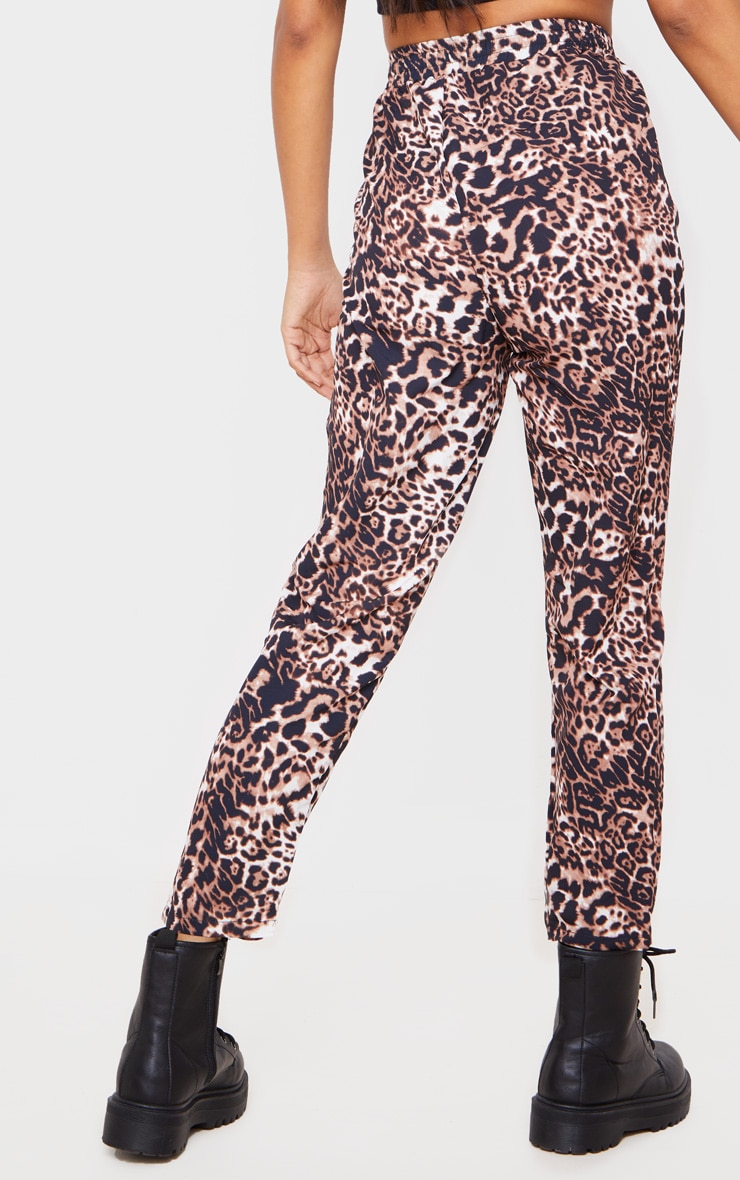 Brown Leopard Casual Pants 4