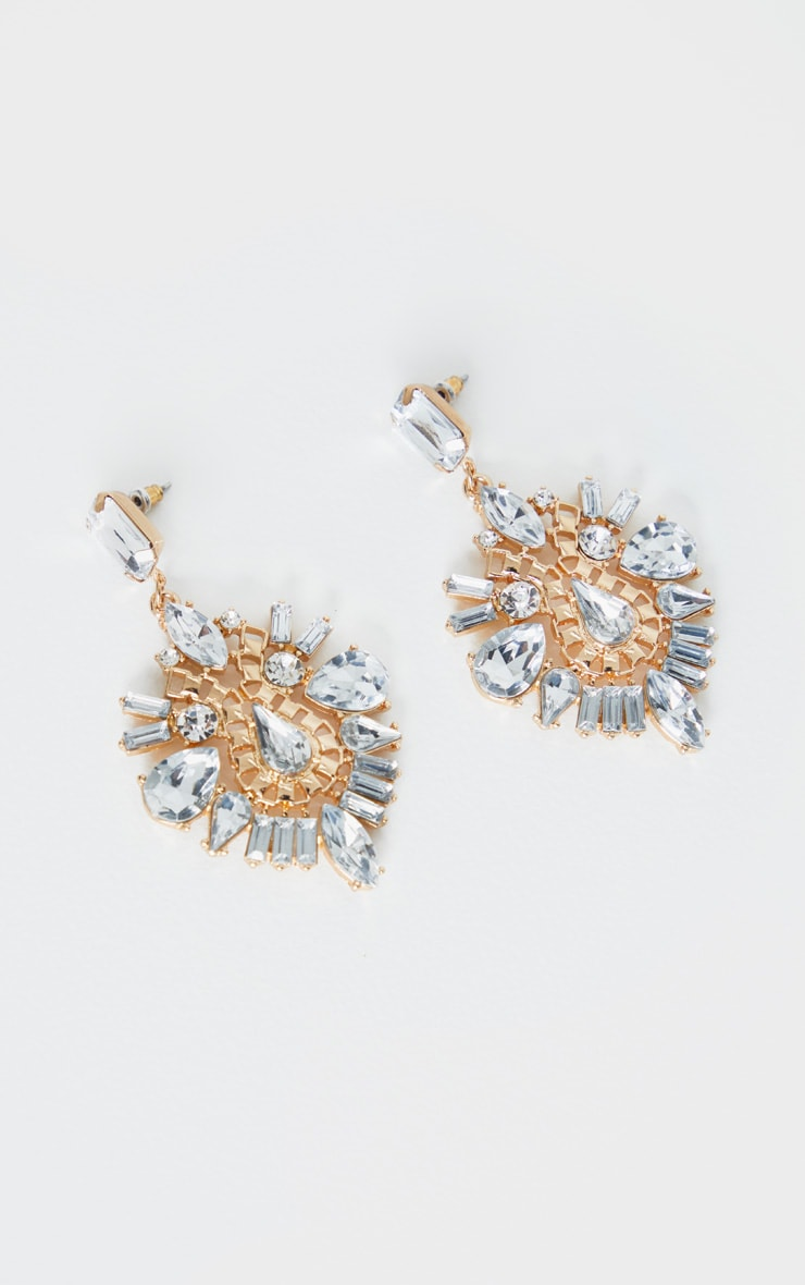 Crystal Ornate Statement Earring 2
