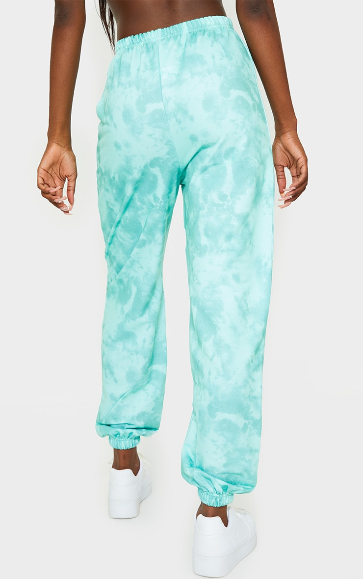 Tall Sage Green Tie Dye Basic Jogger 3