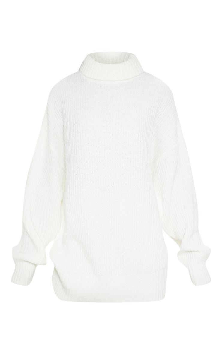 Cream Oversized Boucle Knit Jumper  3