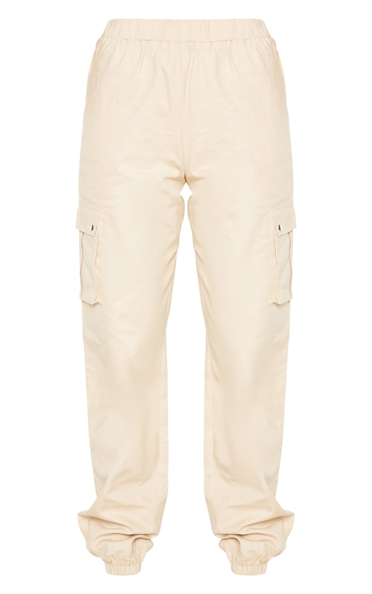 Tall Cream Pocket Detail Cargo Pants 3