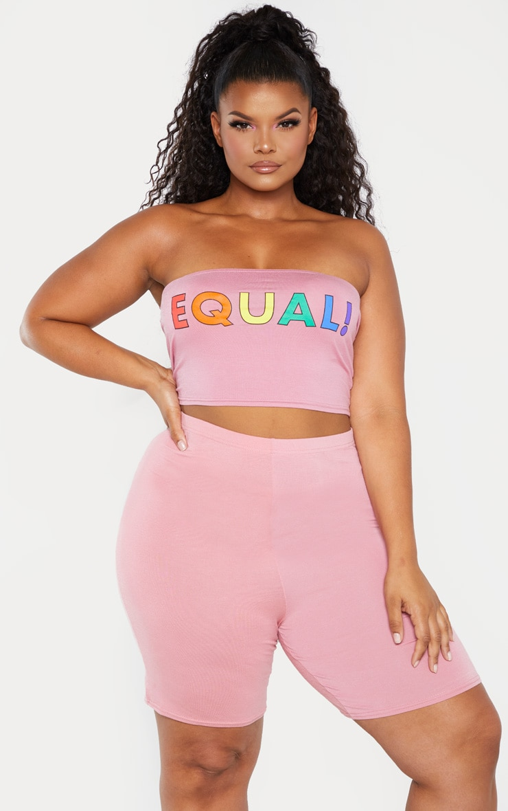 Plus Pink Cycle Short  1