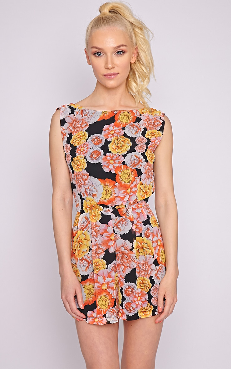 Felicity Floral Chiffon Playsuit  1