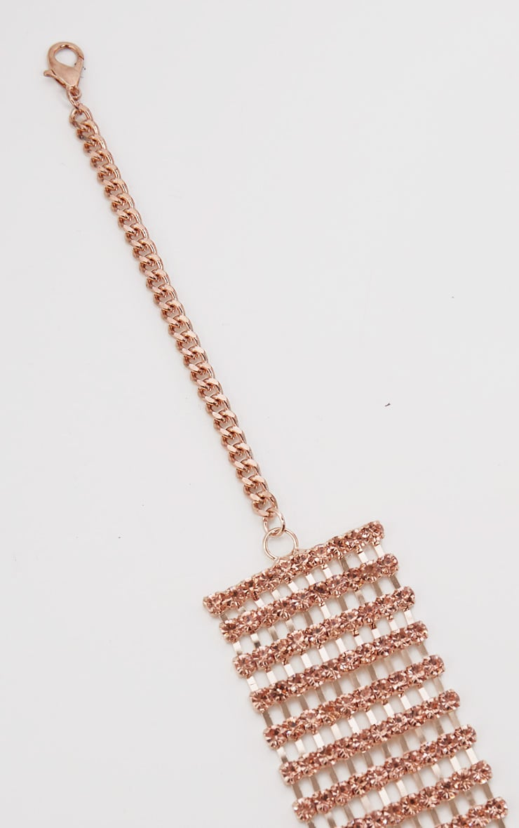 Rose Gold Diamante Chain Belt 3
