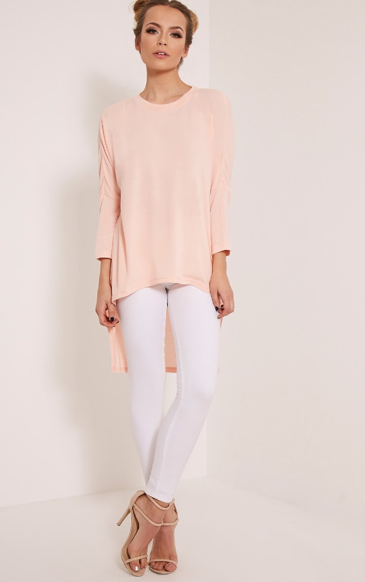 Amalia Nude amalia nude drop hem long sleeve jumper