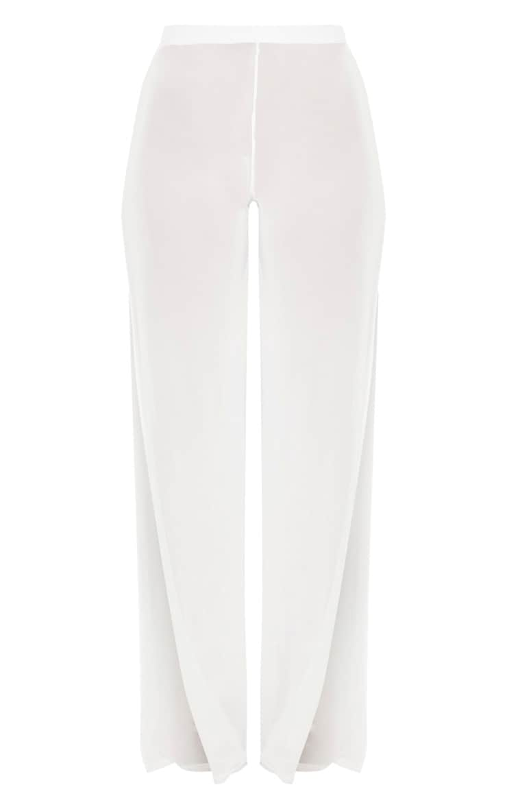 White Split Leg Beach Trouser 6