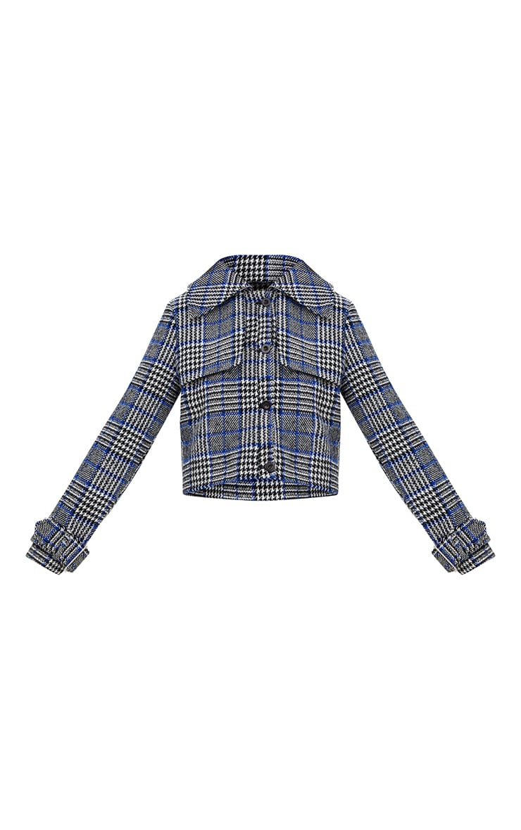 Grey Checked Cropped Jacket 3
