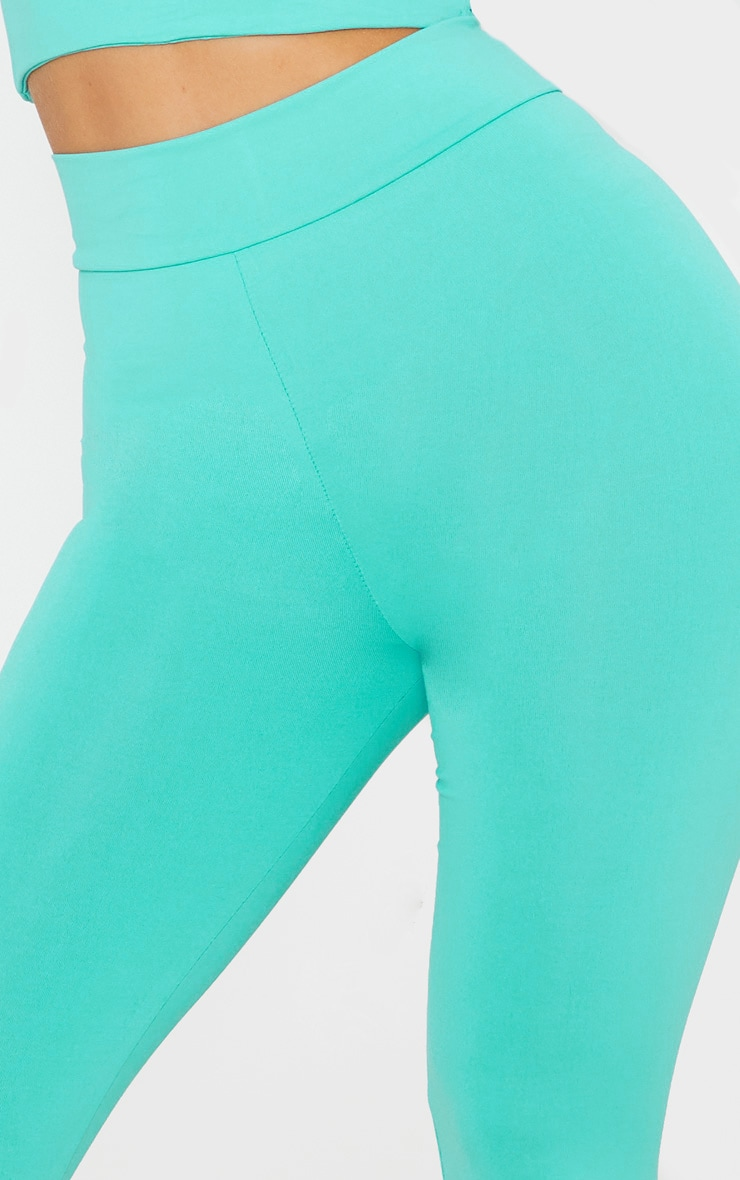 Turquoise Luxe High Waist Gym Legging 5