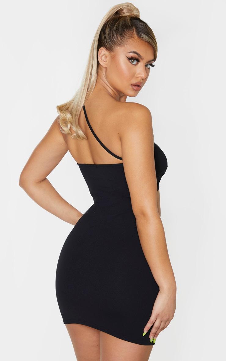Black x strap cut out bodycon dress