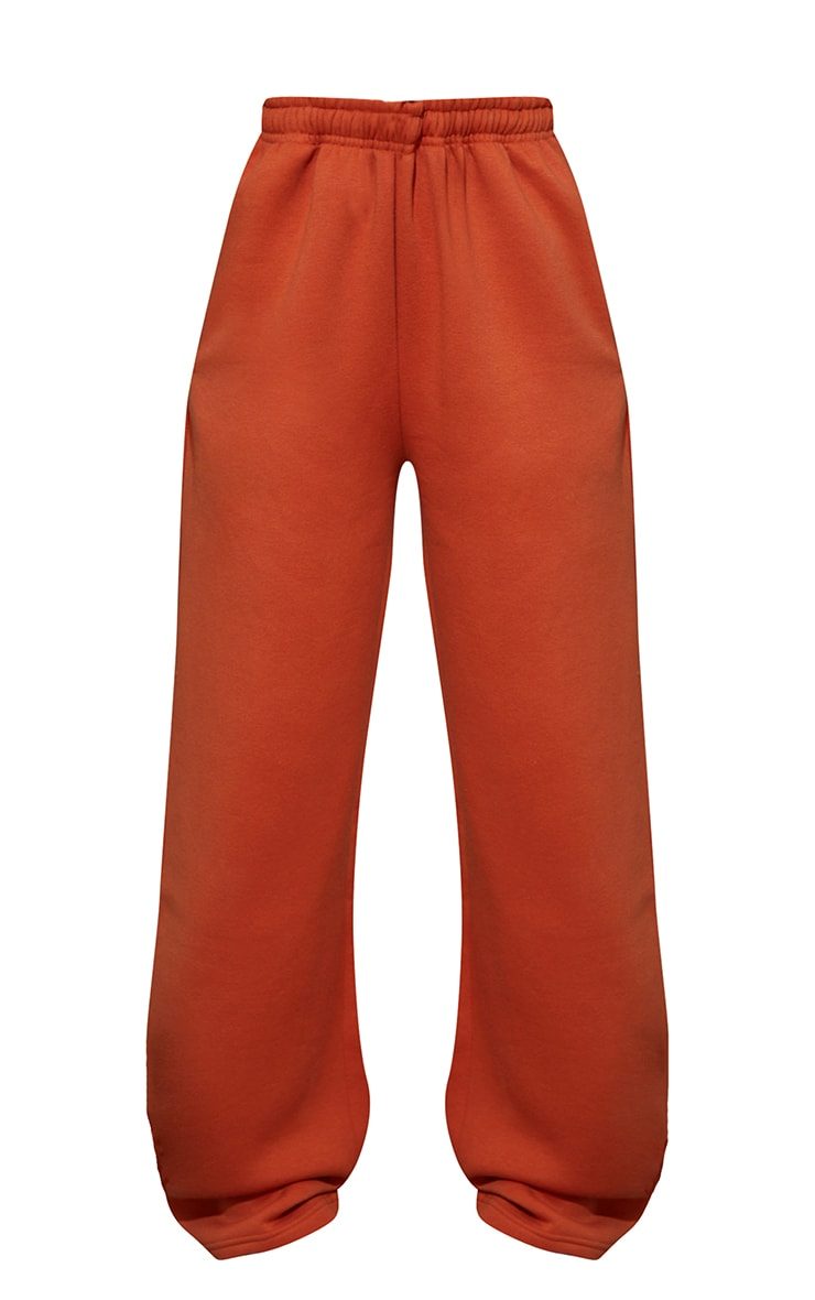 Burnt Orange Wide Leg Joggers 5