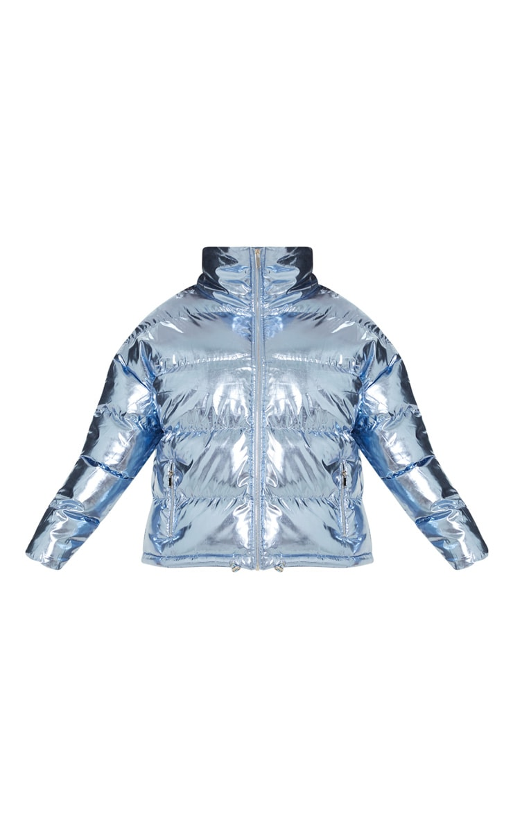 Blue Metallic Puffer  3