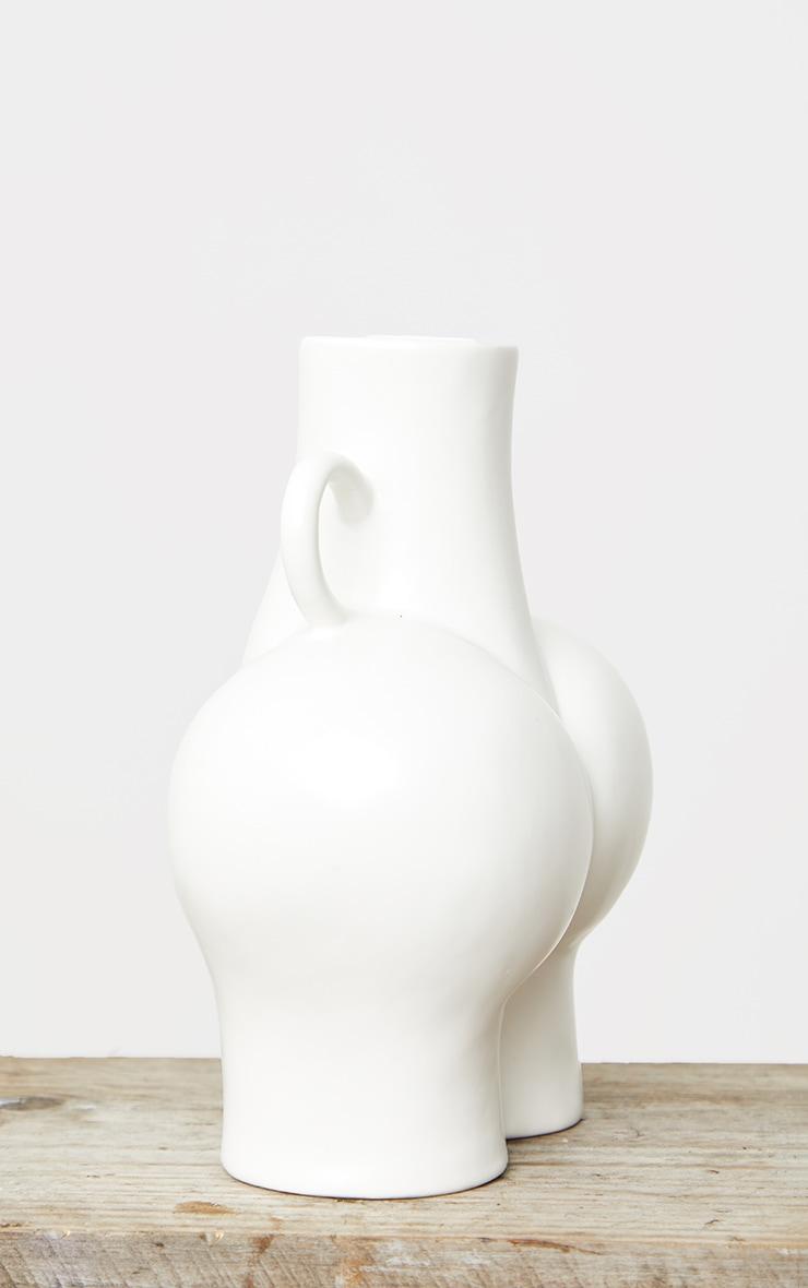 White Large Curvy Booty Vase 5