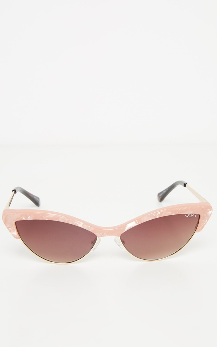 QUAY AUSTRALIA X FINDERS KEEPERS Peach Resin Frame Brown Lens Sunglasses 3