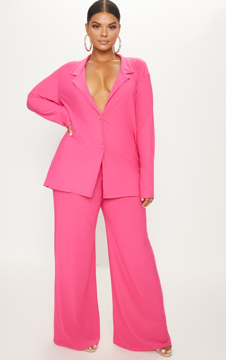 great varieties big collection top-rated cheap Plus Hot Pink Wide Leg Pants
