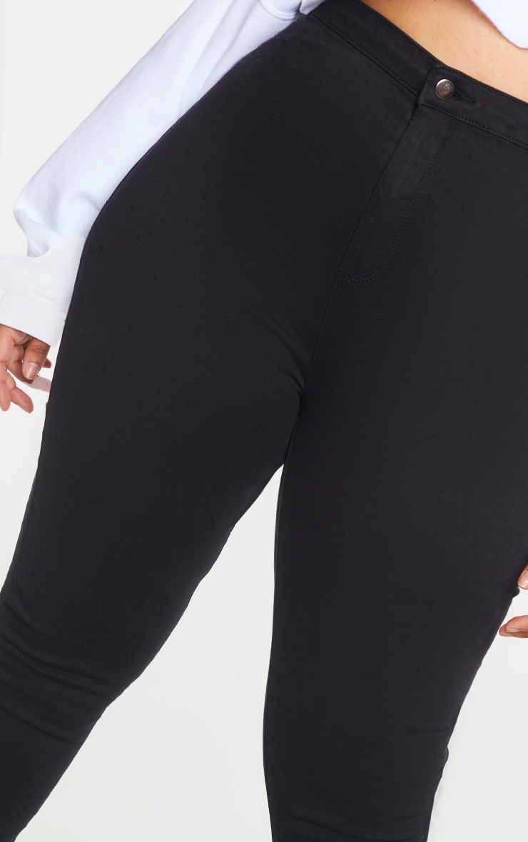Plus PRETTYLITTLETHING Black Disco Skinny Jeans 4
