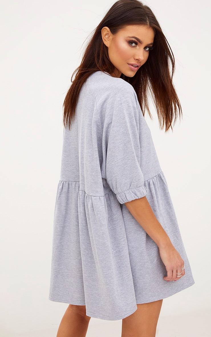 Grey Marl Smock Sweater Dress 2