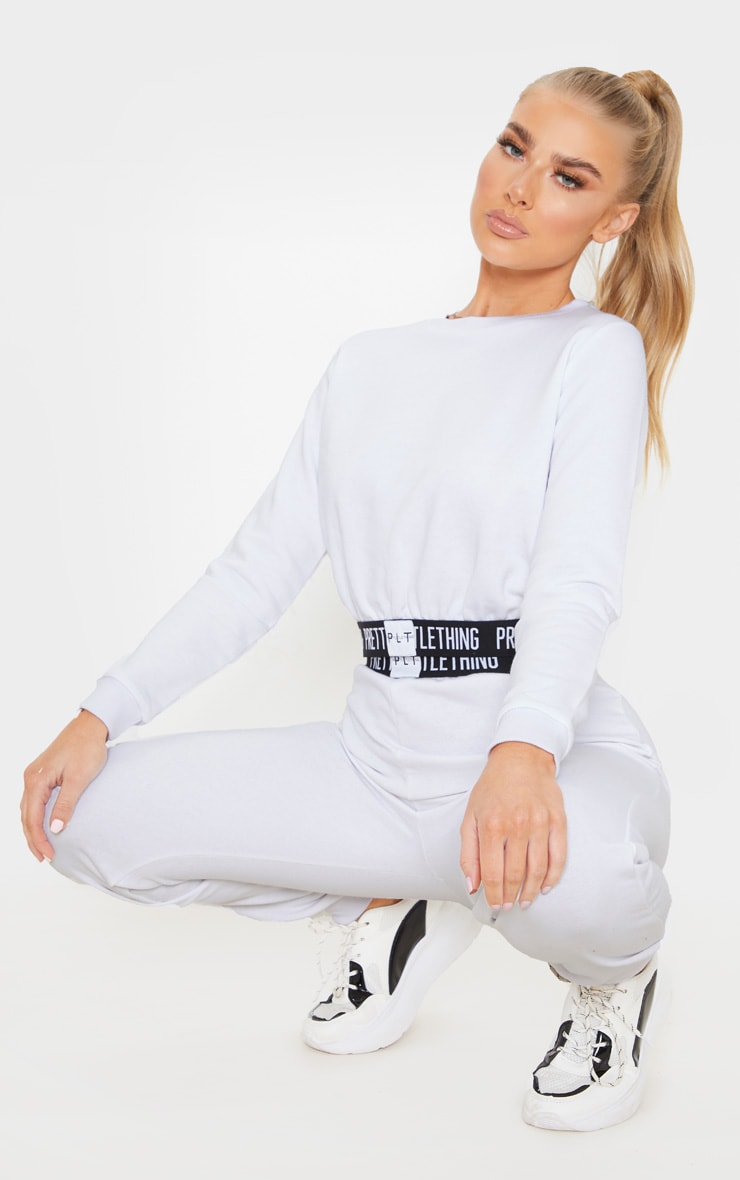 PRETTYLITTLETHING White Lounge Sweater 4