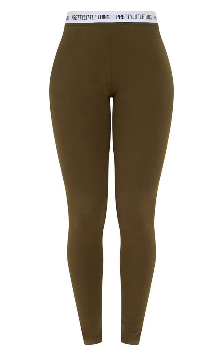 PRETTYLITTLETHING Khaki Leggings 3