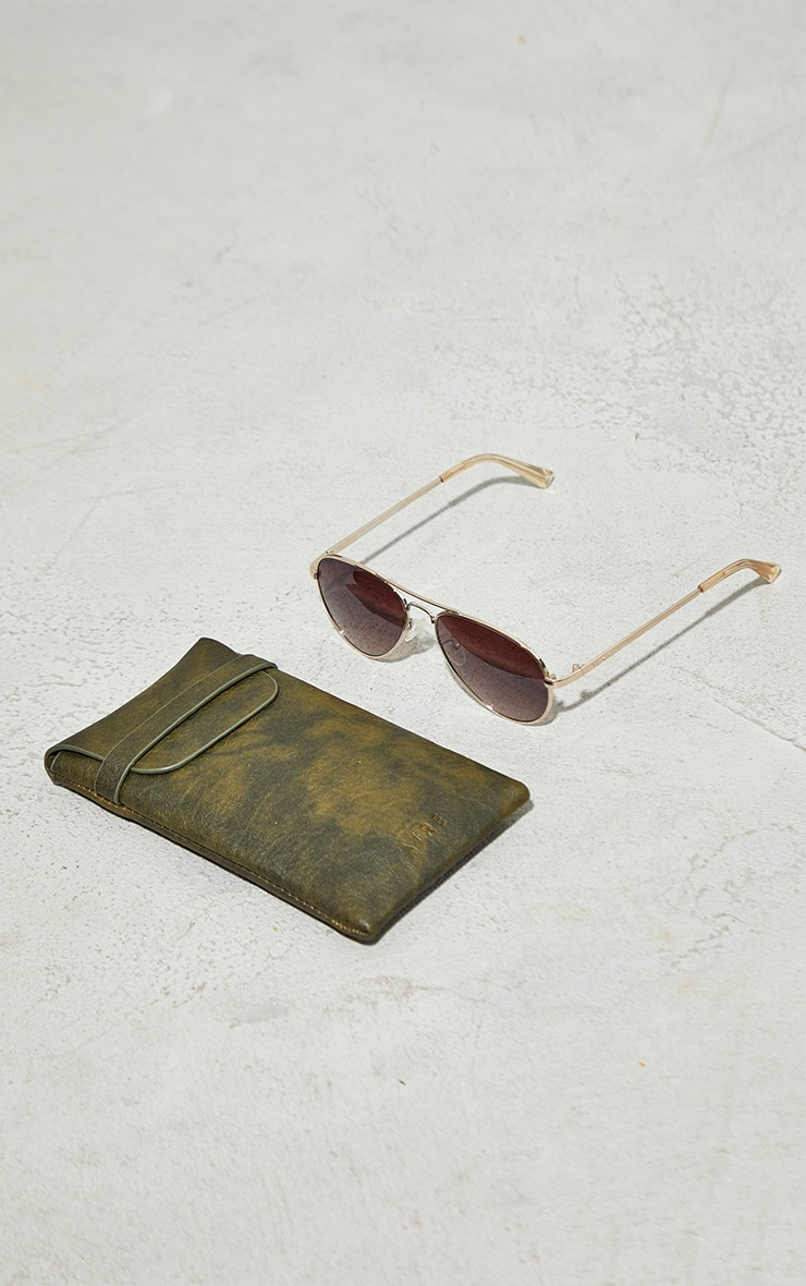 AIRE Brown Atmosphere Aviator Sunglasses 2