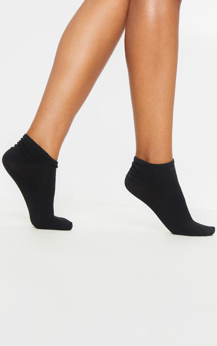 Black Two Pack Trainer Socks 2