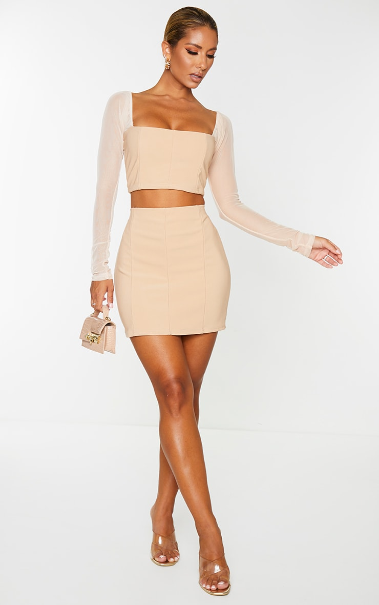 Stone Mini Bandage Skirt 1