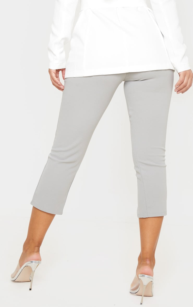 Petite Grey Split Front Cropped Legging 4
