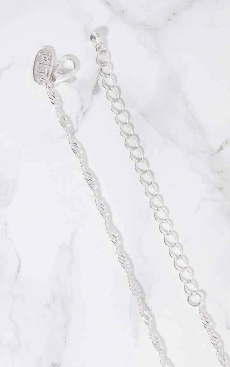 Silver Square Renaissance Pendant Necklace 4