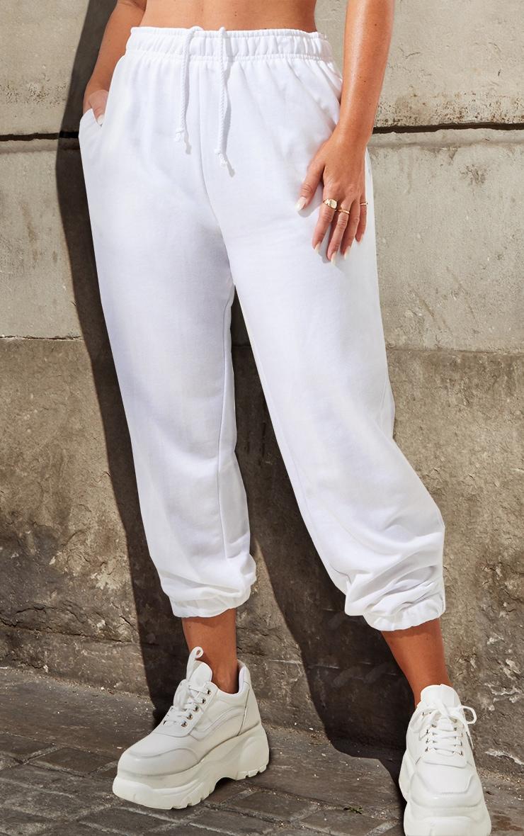 Petite White Casual Track Pants 2