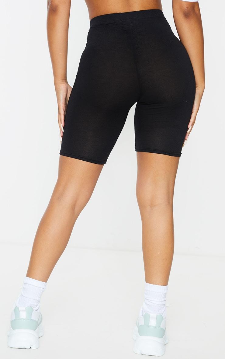 Petite Black Basic Bike Shorts 3