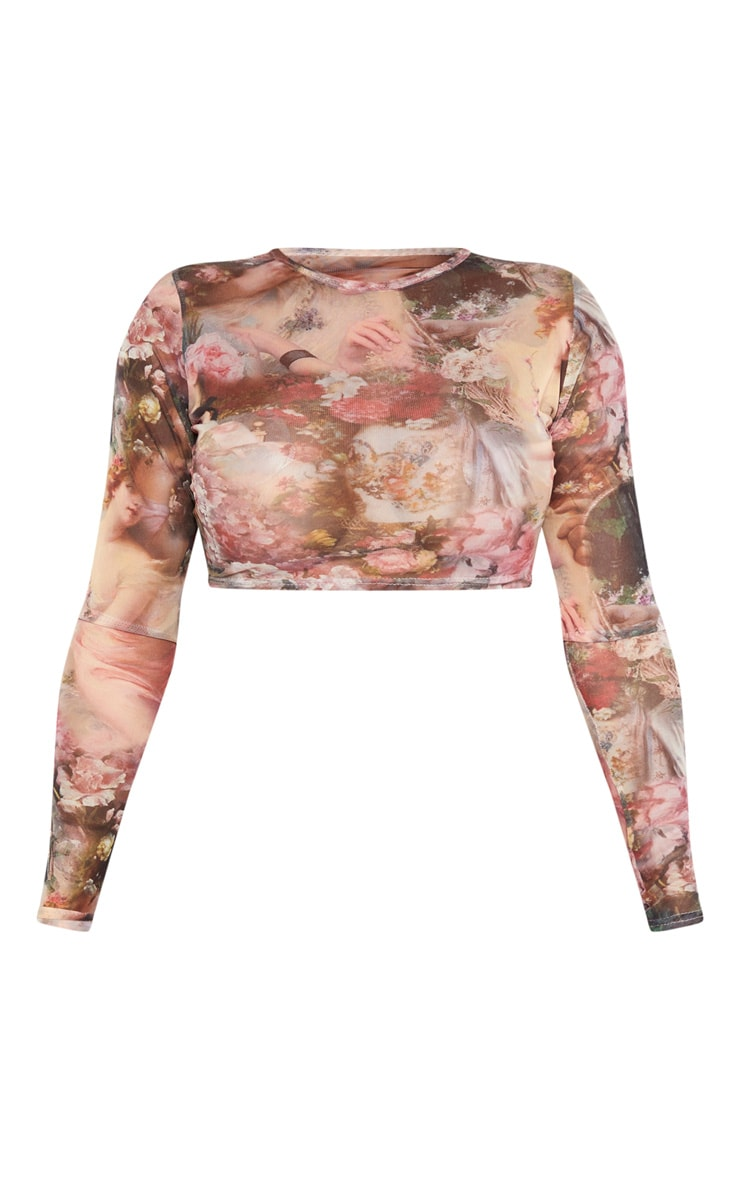 Shape Nude Renaissance Mesh Long Sleeve Crop Top 3