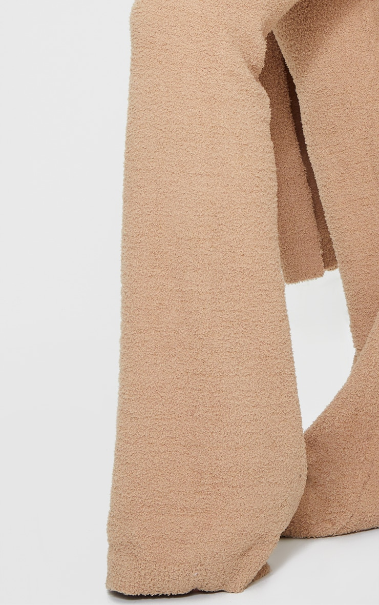 Taupe Chenille High Waist Trouser 4