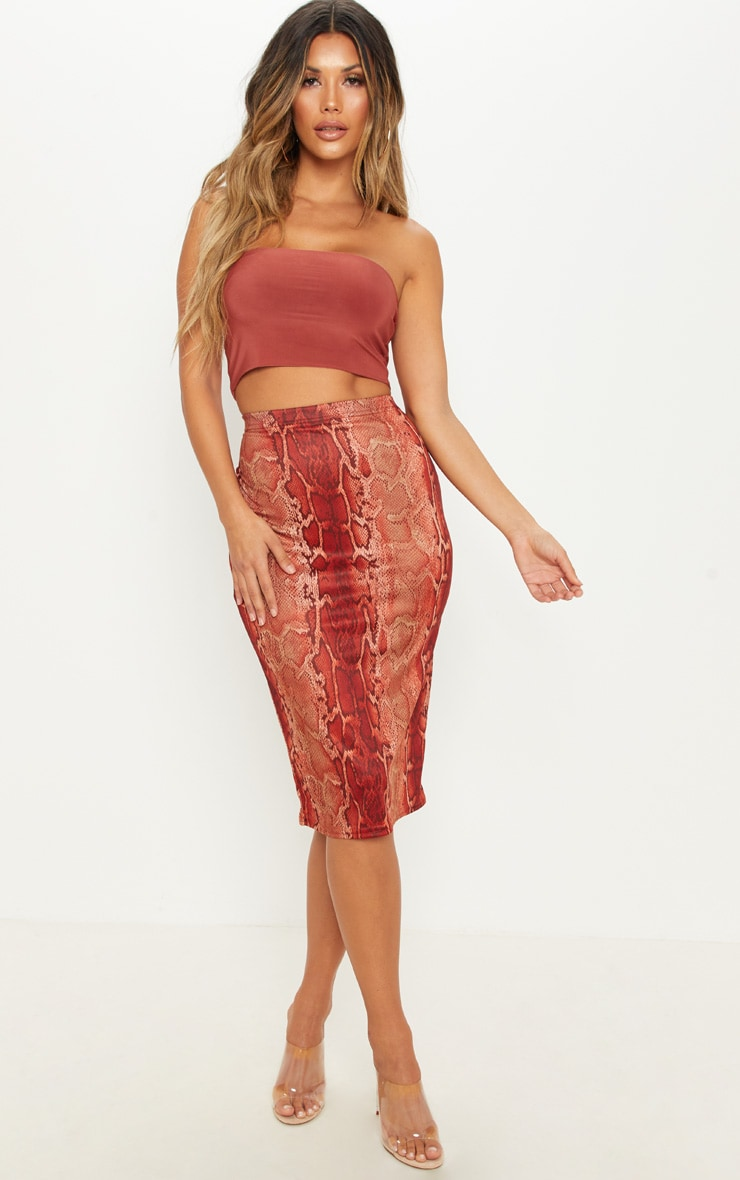 Spice & Chocolate 2 Pack Slinky Bandeau Crop Top  4