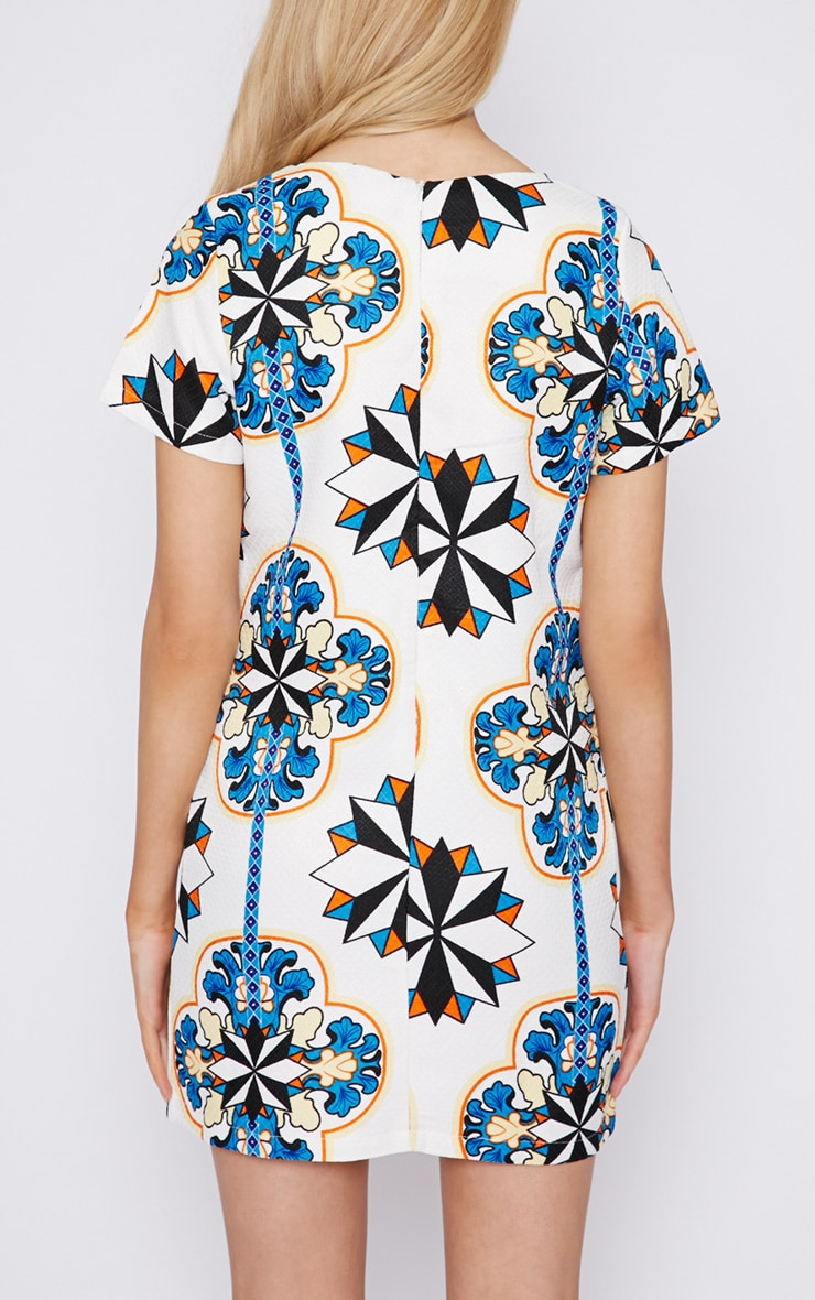 Bailey Abstract Print Quilted Shift Dress 2