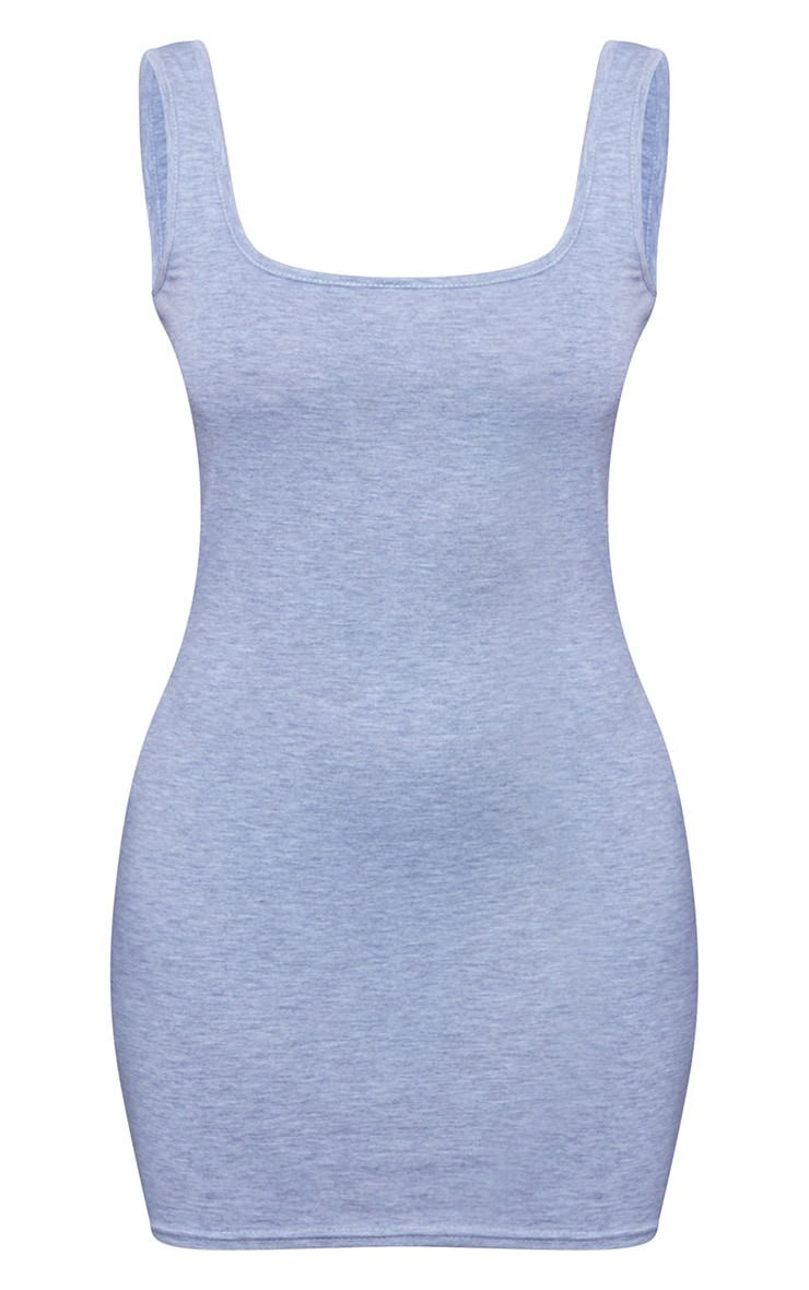 Petite Grey Jersey Mini Dress 6