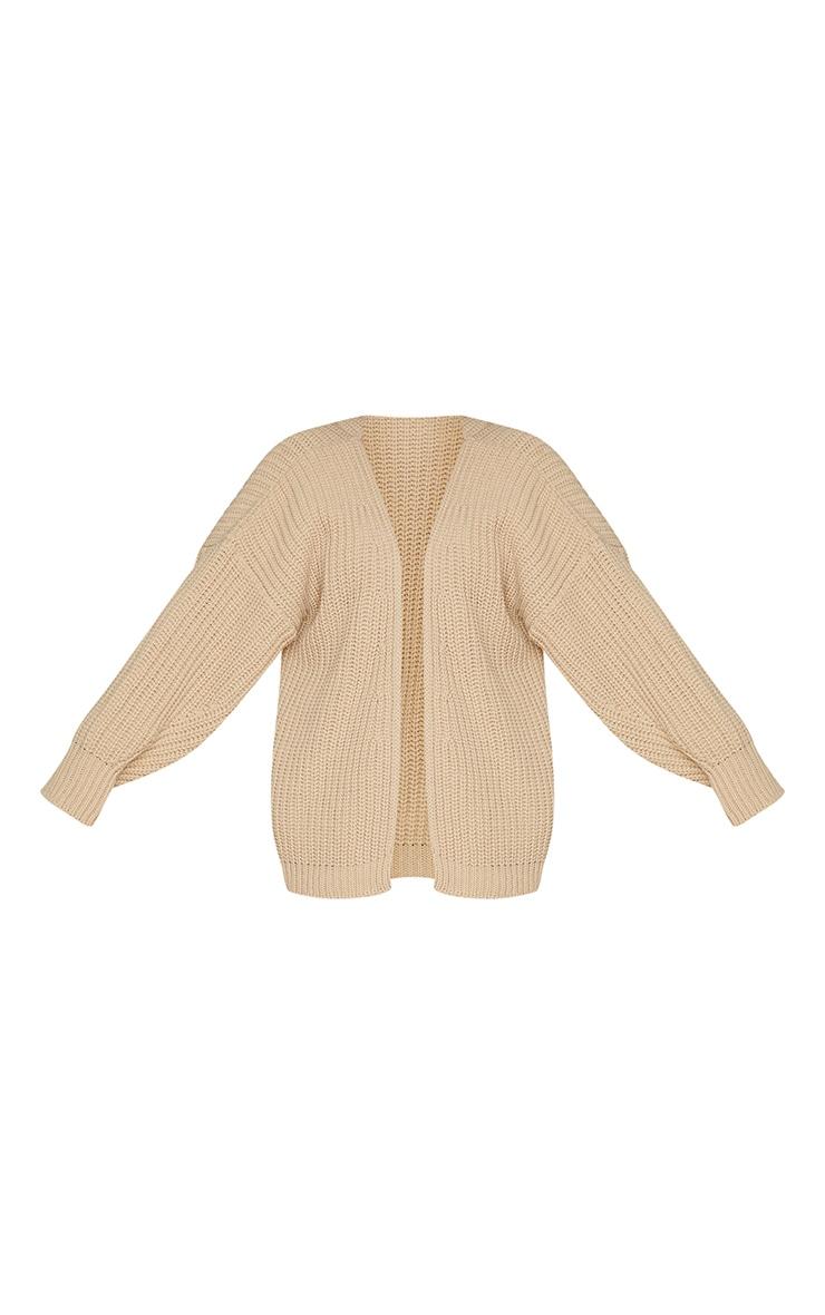 Camel Chunky Knit Slouchy Cardigan 5