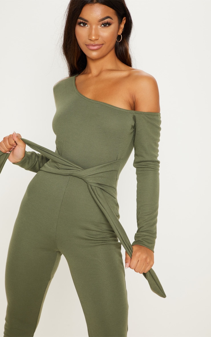 Khaki Sweat Jumpsuit 5